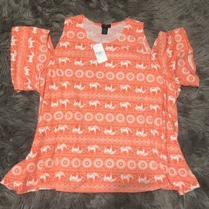 CLEARANCE  Rue 21 Cold Shoulder Top